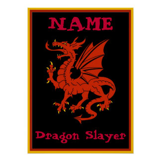 Dragon Sign, edit text Poster