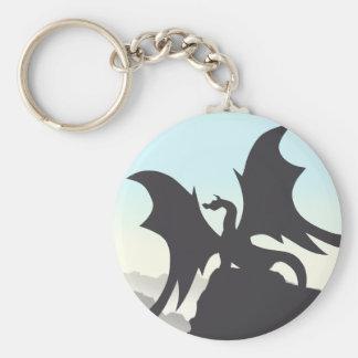 Dragon Silhouette Keychain