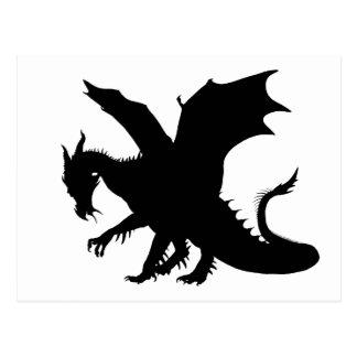 Dragon Silhouette Postcard