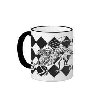 Dragon Skeleton Ringer Coffee Mug
