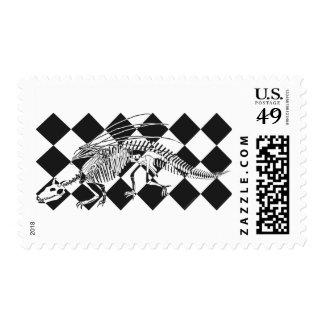 Dragon Skeleton Postage Stamps