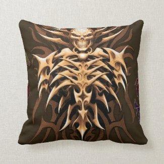 Dragon Skeleton Throw Pillow