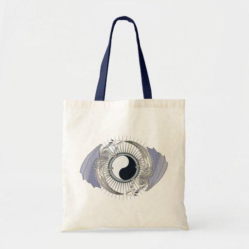 Dragon Skeleton Yin-Yang Budget Tote Bag