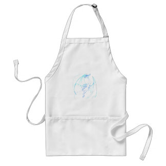 Dragon Sketch 1 - Ice Adult Apron