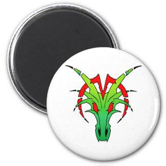 Dragon Skull 2 Inch Round Magnet