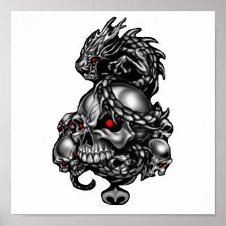 Dragon Skulls Poster