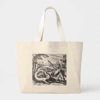 Dragon Slayer Alchemy Emblem Large Tote Bag