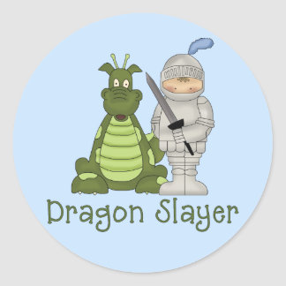 Dragon Slayer Classic Round Sticker