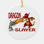 Dragon Slayer Double-Sided Ceramic Round Christmas Ornament