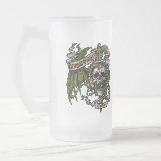 Dragon Slayer Elite Frosted Glass Beer Mug