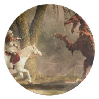 Dragon Slayer Melamine Plate