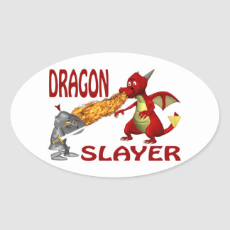 Dragon Slayer Oval Sticker