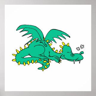 Dragon Sleeping Poster
