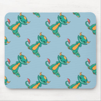 Dragon Smiling, Cute Cartoon Mouse Pad