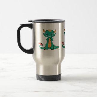 Dragon Smiling, Cute Cartoon Travel Mug