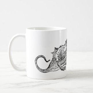 Dragon Snake Classic White Coffee Mug