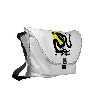 Dragon snake yellow sun.png courier bag
