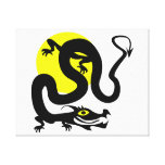 Dragon snake yellow sun.png stretched canvas print
