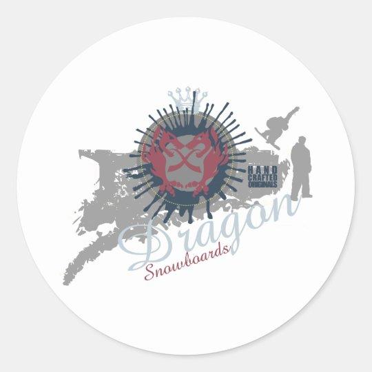 Dragon Snowboards Classic Round Sticker