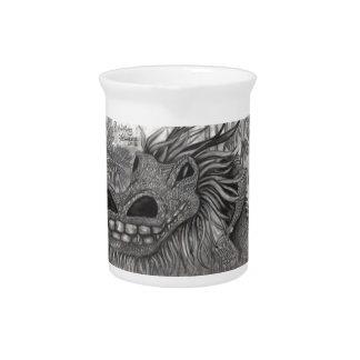 Dragón sonriente jarrón
