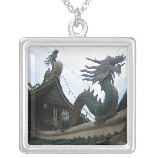 Dragon Square Pendant Necklace