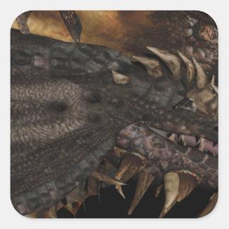 Dragon Square Sticker