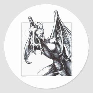Dragon Stalking Classic Round Sticker