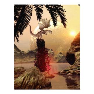 Dragon standing on a rock letterhead