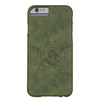 Dragon Star - Embossed Green Leather Image Barely There iPhone 6 Case