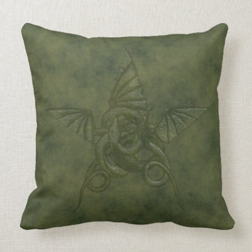 Dragon Star - Embossed Green Leather