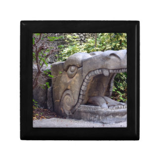 dragon statue mouth open stone jewelry boxes