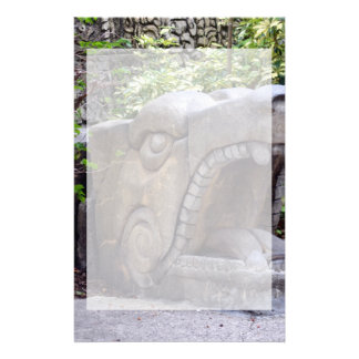 dragon statue mouth open stone stationery