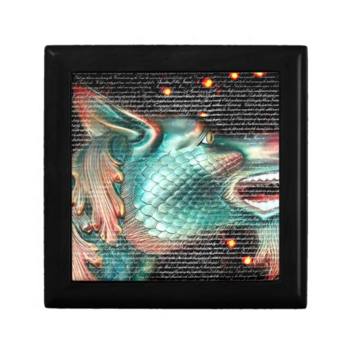 dragon statue with text overlay pic keepsake box