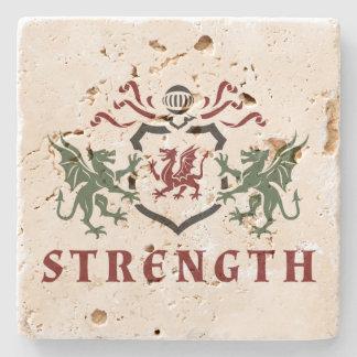 Dragon Strength Blazon Stone Coaster