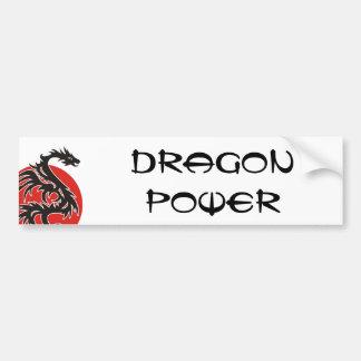 Dragon Sun - black red white + your ideas Car Bumper Sticker