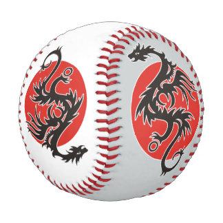 Dragon Sun - black red white + your ideas Baseballs