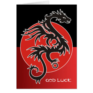 Dragon Sun Power - black red white + your ideas Card