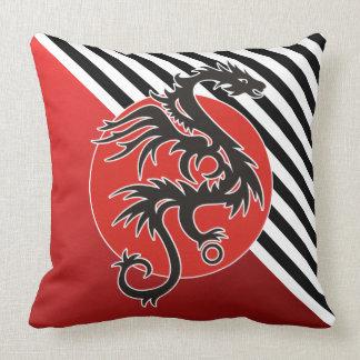 Dragon Sun Power - black red white + your ideas Pillows