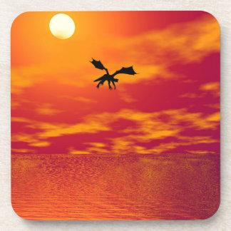 Dragon Sunset Drink Coaster