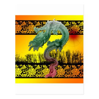 Dragon Sunset Postcard