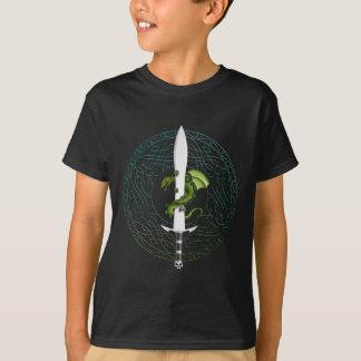 dragon sword celtic pattern T-Shirt