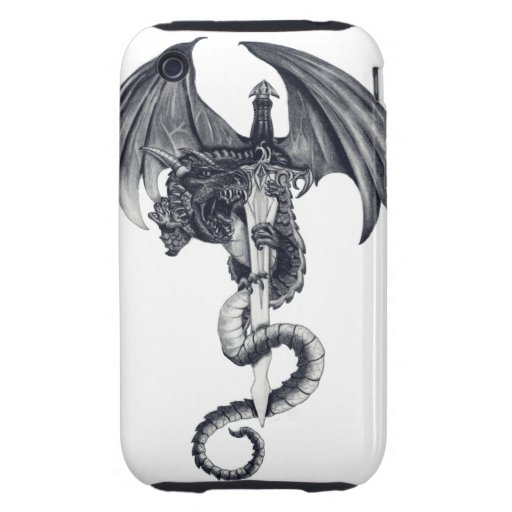 Dragon & Sword iPhone 3G/3GS Tough Case Tough iPhone 3 Case
