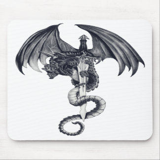 Dragon & Sword Mousepad