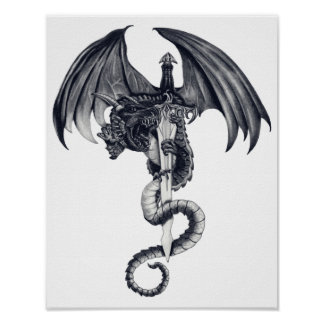 Dragon & Sword Poster Art