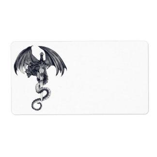 Dragon & Sword Shipping Labels