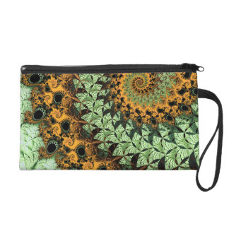 Dragon Tail Spiral Fractal Wristlet Purse