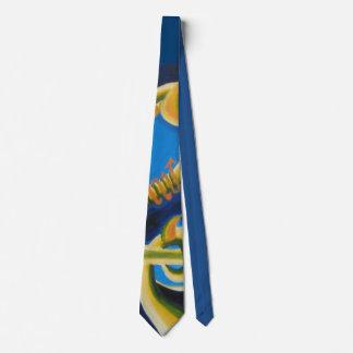 Dragon Tails Pattern Neck Tie