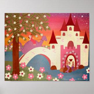 Dragon Tales - 8x10 Princess Fairytale Kids Art Poster