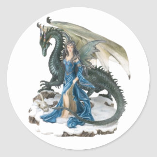 Dragon Tamer Classic Round Sticker