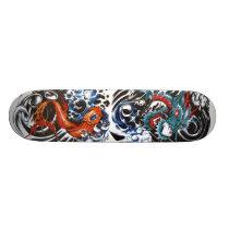 dragon tattoo 1, koi tattoo 2 skateboard